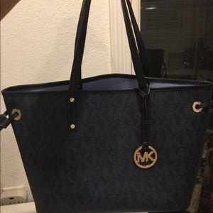 Michael Kors Navy Blue Shoulder Bag